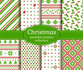 Christmas green background pattern vector