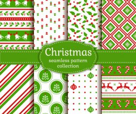 Christmas green background seamless wallpaper vector