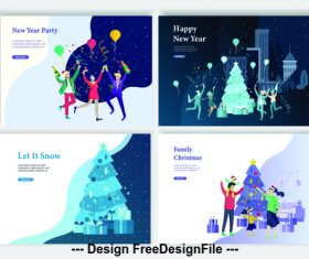 Christmas happy party vector