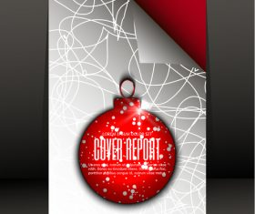 Christmas pendant cover vector