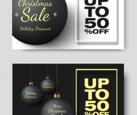 Christmas sale card vector