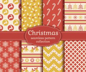 Christmas seamless patterns set vector 04