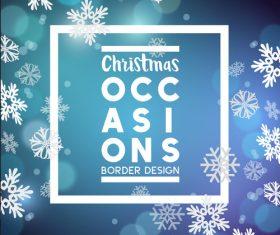 Christmas snowflake card vector
