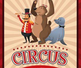Circus animal show vector