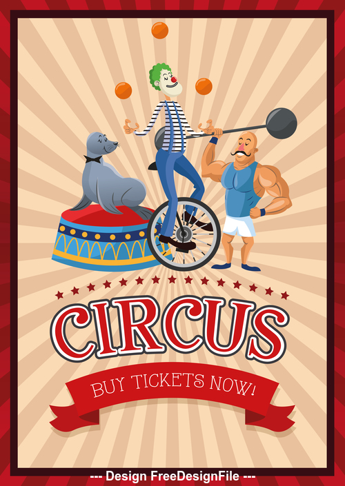 Circus carnival and festival poster vector
