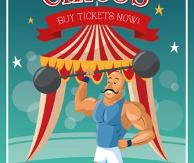 Circus character performance vector