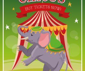 Circus elephant show vector