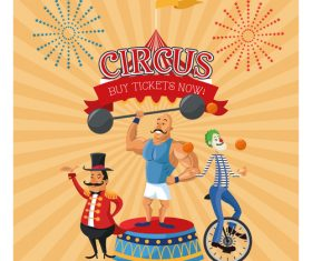 Circus show poster vector