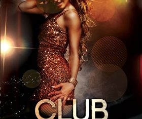 Club Night Party Flyer Design PSD Template