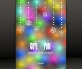 Color brochure cover design vector