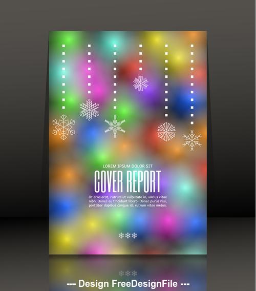 Color brochure cover design vector