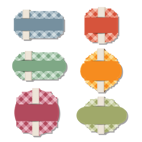 Color elements tags vector 01