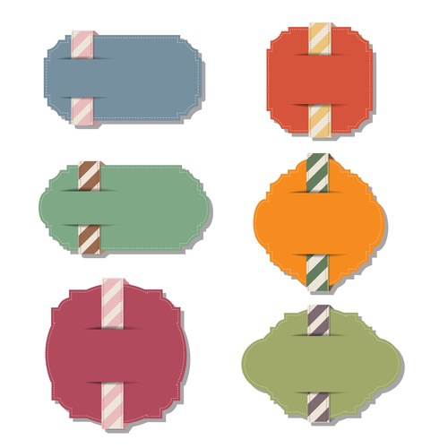 Color elements tags vector 02