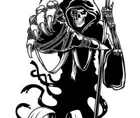 Comic death vector