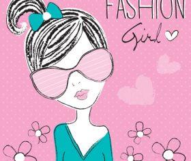 Comic fashion girl vector