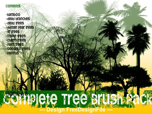 Complete Tree Photoshop Brushes