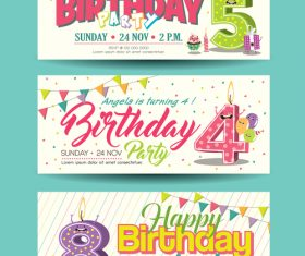 Congratulations birthday banner vector
