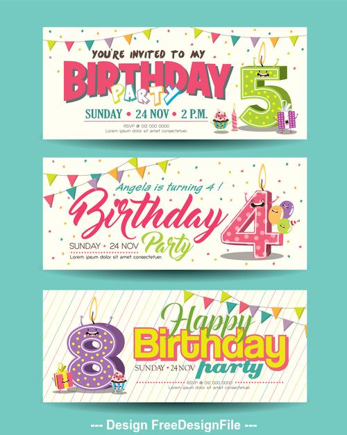 Congratulations birthday banner vector