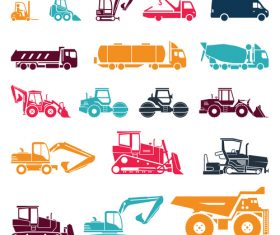 Construction vehicle silhouette vector