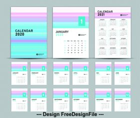 Cover design 2020 new year calendar vector