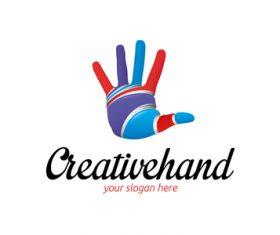 Creative hand logo vector