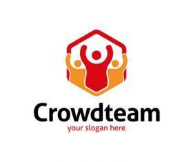 Crowd team logo vector