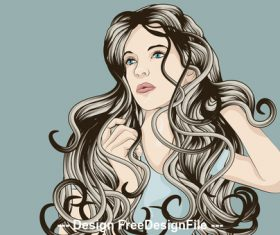 Curly hair vector