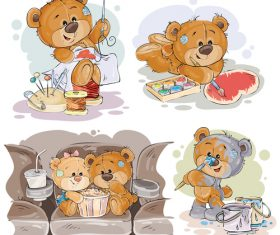 Cute vector teddy bear
