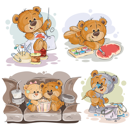 Cute vector teddy bear