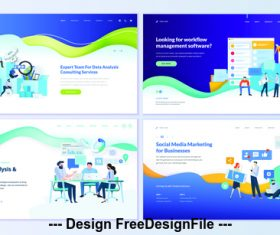 Data analysis statisics page isometric vector concept illustration