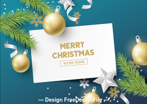 Decorative card to buy merry christmas vector