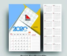 Desk calendar 2020 vector