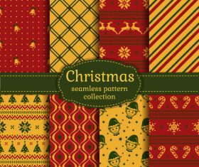 Different christmas seamless pattern vector