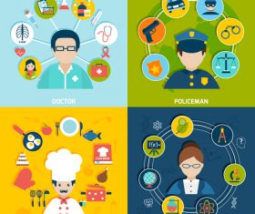 Different professions illustration vector