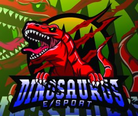 Dinosaur mascot logo vector design