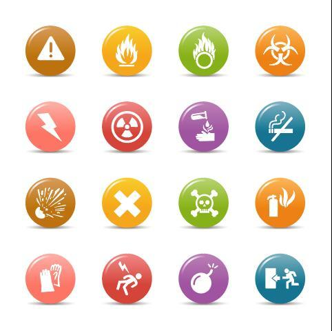 Disaster gloss buttons Icon vector