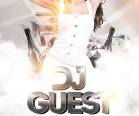 Dj Guest Flyer PSD Template
