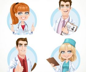 Doctor cartoon icon vector