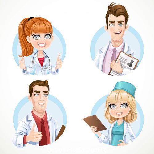 Doctor cartoon icon vector