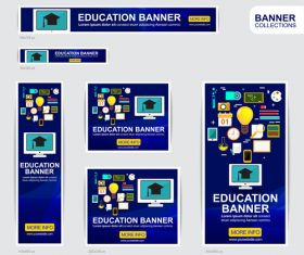 EDUCATION banner advertising templates design vector