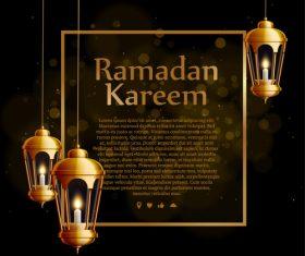 Eid mubarak ramadan kareem template vector
