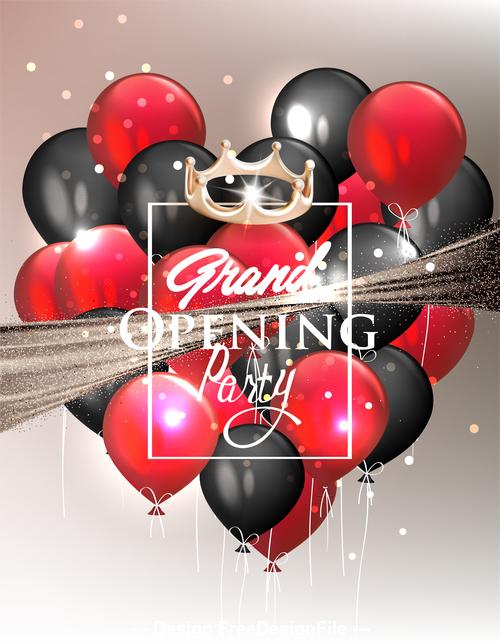 Elegant Grand Opening Invitation Card Vector Free Download