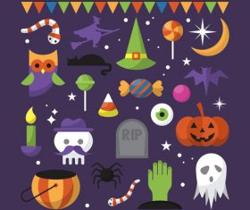 Element icon happy halloween vector