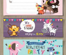 Enjoy the day animal banner vector