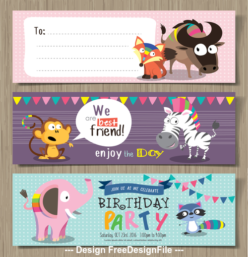 Enjoy the day animal banner vector