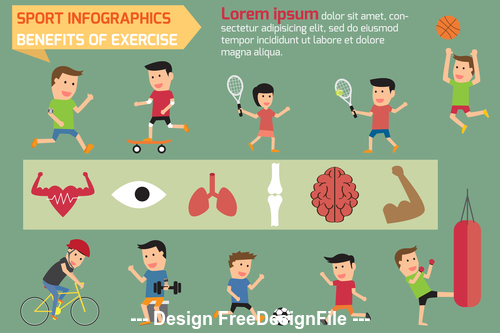 Exercise or sport for health vector