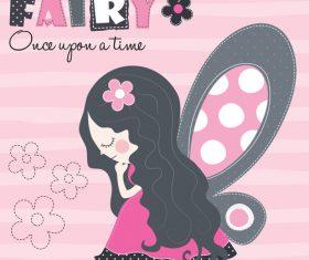 Fairy girl cartoon vector