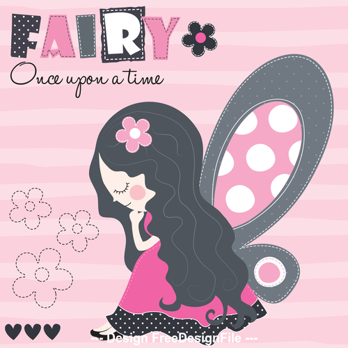 Fairy girl cartoon vector