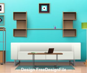 Fashion interior vector