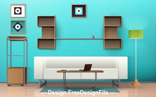 Fashion interior vector